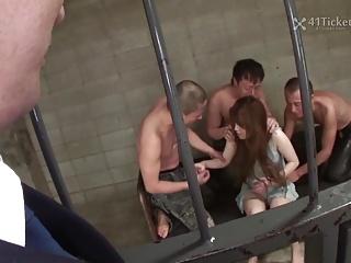 Miu Aizaki's Jail Cell Gangbang (Uncensored JAV)