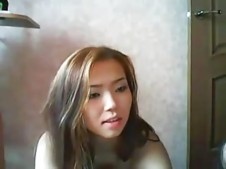 Four Petite Asians Sparking Unconcealed Unaffected by Cam