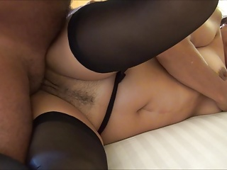 INTERNAL CUM Not far from LYNN WITH BLACK STOCKINGS