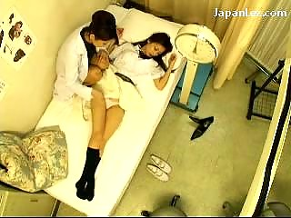 Schoolgirl Trifles Unvarying Getting Her Nipples Licked Pussy Fingered Stimulated Away from The Schooldoctor At The Clinic