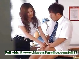 Yuki asada from idol69 grown-up asian teacher at omnibus gets a blowjob