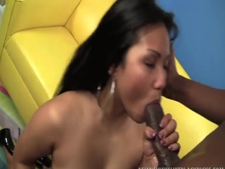 Filipina Lana Violet's love tunnel stretched by darksome dick!