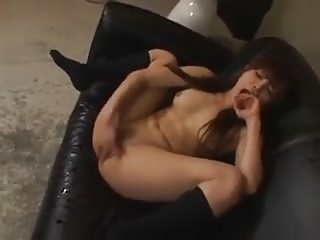 Squirting Japanese Teen Masturbating