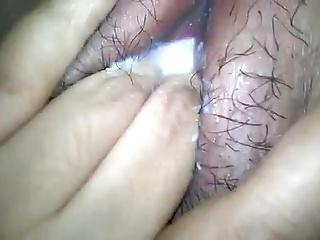 Indonesian hairy pussy masturbate