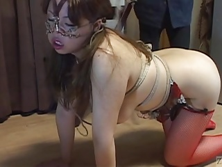 Voluptuous Japanese BDSM leash as dull as ditch-water hot wax upstairs big butt