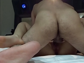 Fucking hairy Asian cunt for the first time