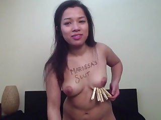 Asian Slattern Danielle Self Punishment