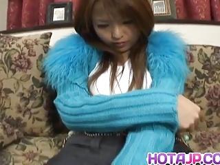 Haruna Ayumi rides dildo wide aroused nooky