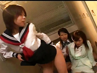 Asian Lesbian Teacher Loves Trample Schoolgirl Ass and Feet