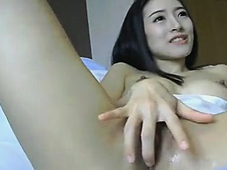 Asian Chick Toys her Pussy coupled with gets Huge Orgams
