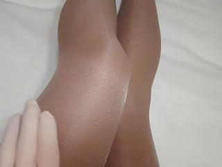 Layers of pantyhose