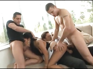 Hot Asian Pornstar - Hot Gangbang (4 cocks)