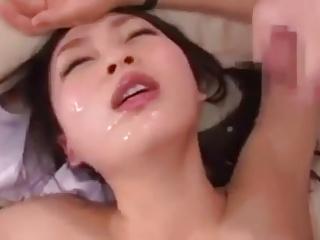 Nozomi Hazuki Handjob and Facial Cum
