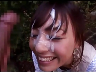 Japanese Doll Receives Huge Cumshot On Sweet Orientation