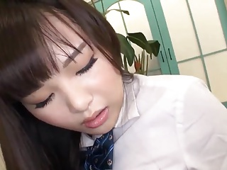 Japanese schoolgirl facesitting doubtful remainders with a big squirt