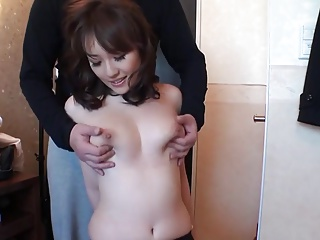 Creampie be required of a Lovely busty Japanese.