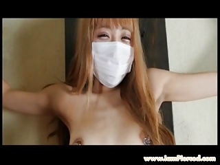 I am Pierced Japanese teen idol with pierced nipples shaved