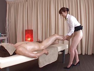 Subtitled usual Japanese bottomless massage Yui Hatano