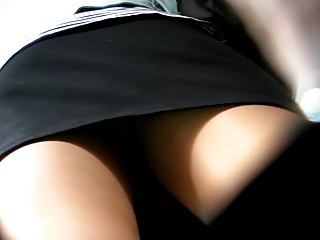 Upskirts extrinsic colored pantyhose