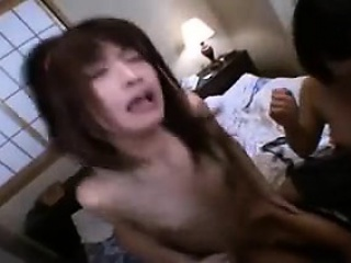 Insatiable Japanese girls getting fucked imprecise together by