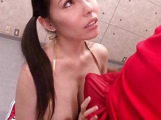 lovely Japanese milf enjoys treacherous cocks