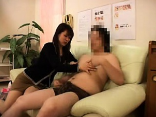 Striking Oriental babe makes a dick burst with pleasure facility