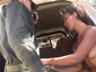 Huge teat  scissoring Horny border patrol screws Latin chick L