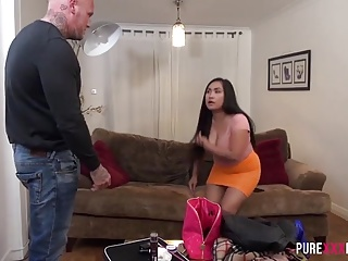 Debased Asian Chubby Petite daughter