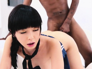 Asian cunt gets brim with black meat