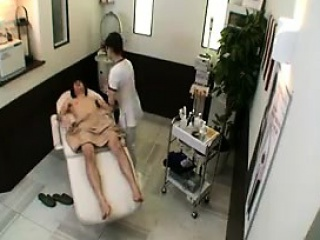 Cute Asian neonate massages a cock with her expert hands and s