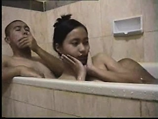 Boyhood bathtub foreplay