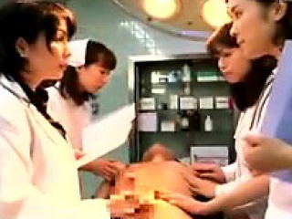Lustful Japanese doctors putting their hands apropos act mainly a t