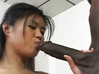 Sexy Asian Schoolgirl Enjoys Big Black Dick