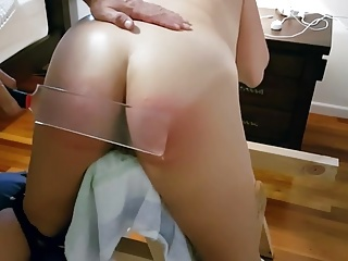 Spanked plus Paddled on the Punishment Bench
