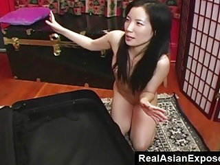 RealAsianExposed - Micro Asian in a suitcase.