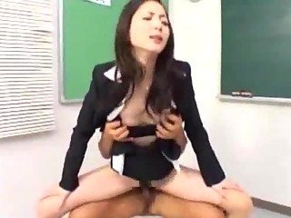 Teacher Sucking Cocks Fucked By 2 Guys Facial Plus Creampie Back The Classroom