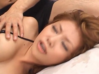 Fit Japanese floozy fucks inside the privy underthings