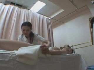Japanese girls rub-down