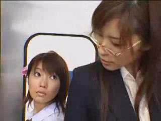 Asian futunari On Public Train