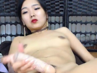 Amazing Asian Crude Toys Herself On Cam