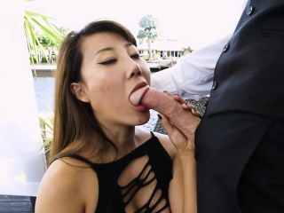 Hot Boss Tiffany Rain Sucks Fat Cock Be beneficial to Geeky Adventitious