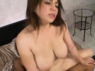 Pretty asian babe sucks a unending wang passionately