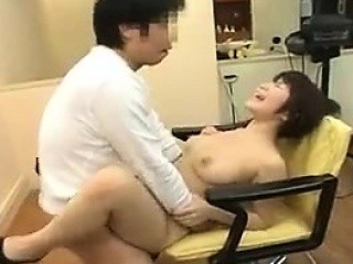 Busty Japanese hoe sucks POV cock
