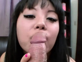 Asian Teen Gets a Huge Load of Facial
