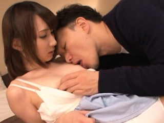 Babe from japan with smashing assembly is having sex with sexy pal