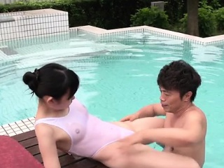 Bitch gets her pussy soaked with two guys using vibrator