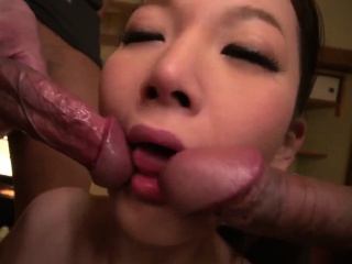 Tsubasa Takanashi moans with dick deep in her concentrated pussy