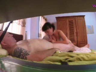 Asian mature wife caught on hidden cam
