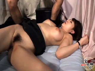 Asian boobs close to glasses were seduced be beneficial to blowjob