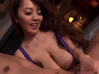 Predominating asian boobs in lingerie